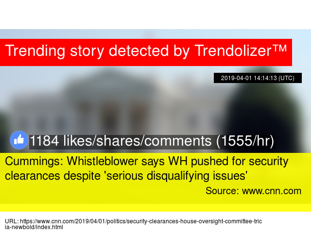 White House whistleblower says 25 security clearance denials were