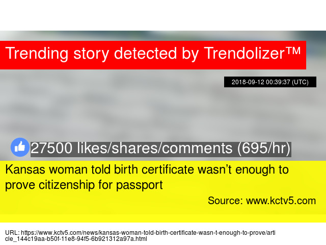 Kansas Woman Told Birth Certificate Wasnrsquot Enough To Prove